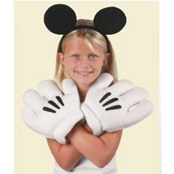 Mickey Mouse Ears and Oversized Gloves