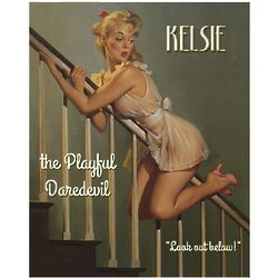 Playful Daredevil Pin Up Personalized Print