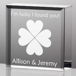 Clovers Lucky in Love Mini Plaque