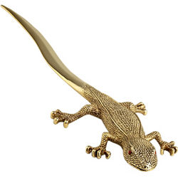 Gold-Plated Gecko Letter Opener