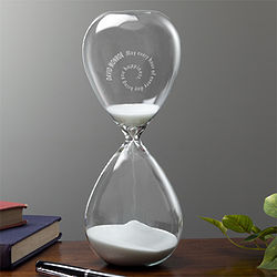 Personalized Spiral Etched Sand-Filled Hourglass