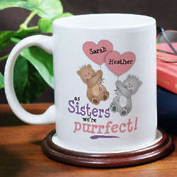 Personalized Purrfect Sister Coffee Mug