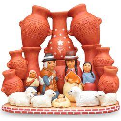 Peru Country Christmas Ceramic Nativity Scene