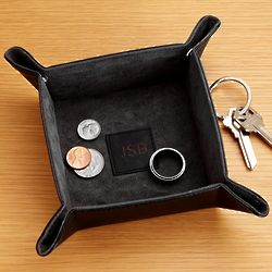 Personalized Black Snap Valet