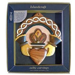 Claddagh Ring Wooden Wall Plaque