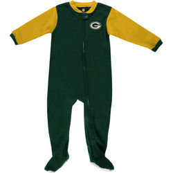 Green Bay Packers Newborn NFL Color Blocked Blanket Sleeper