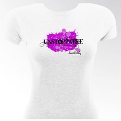 Unstoppable Personalized Flirty Gal Fitted T-Shirt