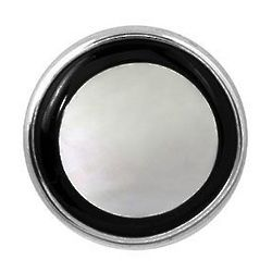 Onyx and Mother of Pearl Sterling Silver Tie Tack