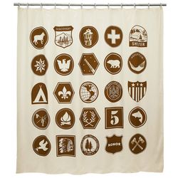Vintage Scout Patches Shower Curtain