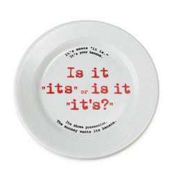 Grammar Rules Ceramic Plate