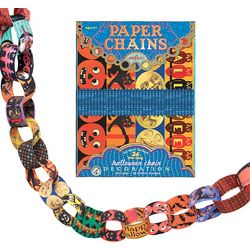 Halloween Paper Chains Decorating Kit