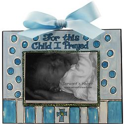 For This Child I Prayed Boy Photo Plaque