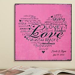 Personalized Language of Love Plaque