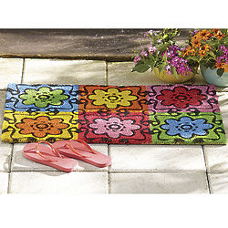 Colorful Daisy Doormat