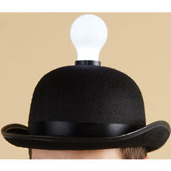Bowler Hat with Lightbulb