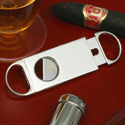 Chrome Finish Personalized Cigar Cutter