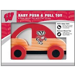 Wisconsin Badgers Wooden Push and Pull Toy