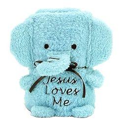 Jesus Loves Me Elephant Baby Blanket