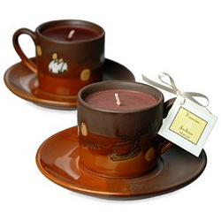Espresso Coffee Candle Cup with Saucer