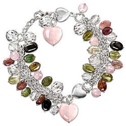 All Things Grow with Love Gemstone Charm Bracelet