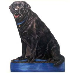 Black Lab Doorstop