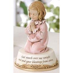 God Watch Over Me Girl Figurine