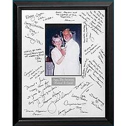 Personalized Anniversary Autograph Frame