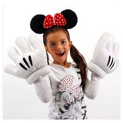 Minnie Mouse Ears and Oversized Gloves