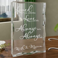Personalized Love You Always Plaque