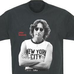 John Lennon New York Photo T-Shirt in Black
