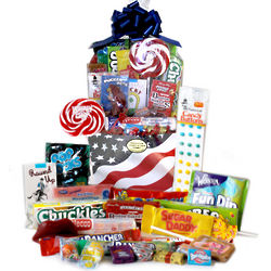 Patriotic Retro Candy Gift Basket