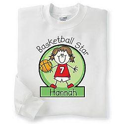Youth's Personalized Basketball Sweatshirt