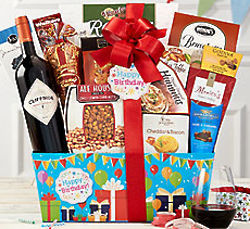 Rock Falls Vineyards Cabernet Birthday Gift Basket