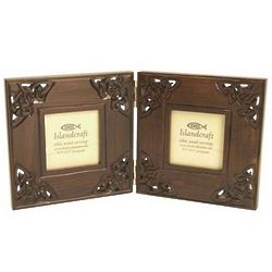 Celtic Double Photo Wooden Frame