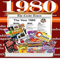Retro 1980 Candy Chocolate Box