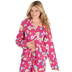Women's Conversation Hearts Boyfriend Pajamas