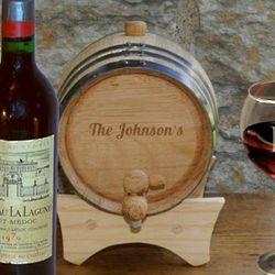 Personalized Oak 2 Liter Wine Barrel