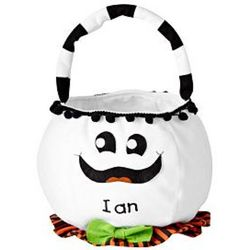 Personalized Cheerful Ghost Halloween Basket