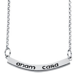 Sterling Silver Anam Cara Name Necklace