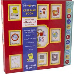 Record a Memory School Years Red Keepsake Book