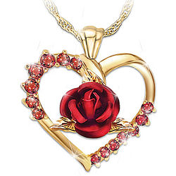 Women's Forever Yours Ruby Pendant Necklace