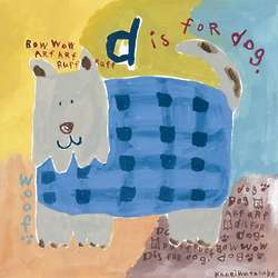 D is for Dog 10x10 Canvas Print