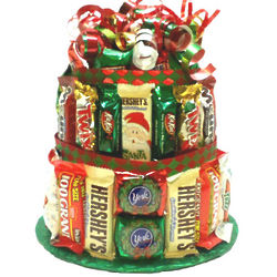 Holiday Candy Bar Cake