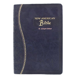 St. Joseph Edition Faux Leather Bible in Blue