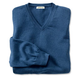 Cotton and Cashmere V-Neck Pullover