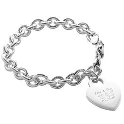 Sterling Heart Dangle Bracelet