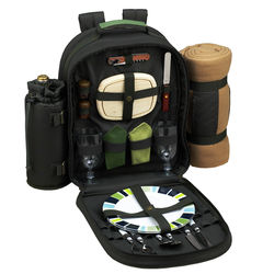 Eco Friendly Picnic Backpack with Blanket