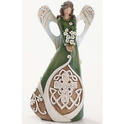 Celtic Cross Angel Figure