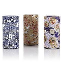 Small Washi Tea Storage Tin