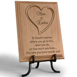 Personalized Always Beside You Wooden Plaque